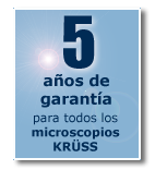 3 year warranty for all Kruess microscopes