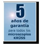 3 year warranty for all Kruess microscopes