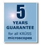 3 year warranty for all KRÜSS microscopes
