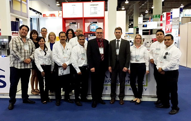 A.KRÜSS Managing Director Thomas Schmauck with the Antoeli trade fair team