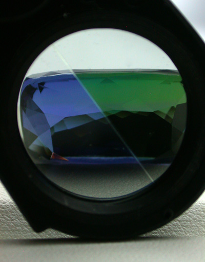 Pleochroism - seen with a dichroscope