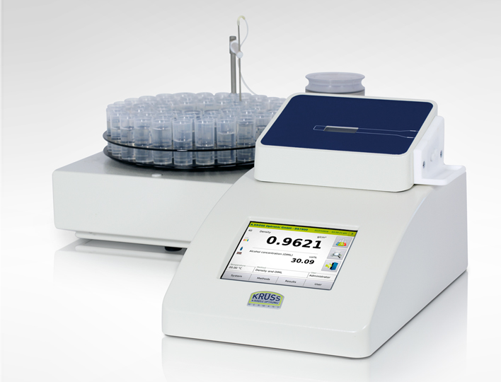 Density meter of the DS7000 series with autosampler AS90