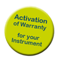 activate the warranty for your instrument