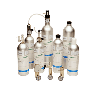 Calibration and test gases for gas analysers