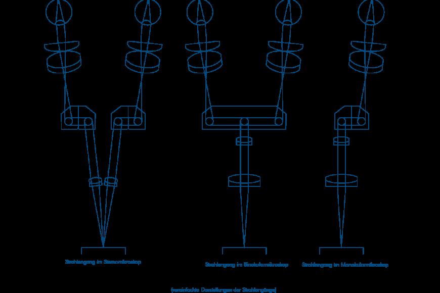 Darstellung der Strahlengänge