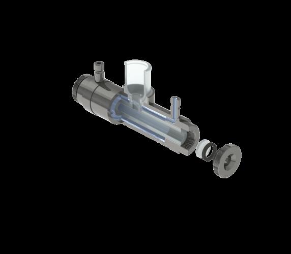 Aufbau Polarimeter Glas-Messröhre PRG-100-ET