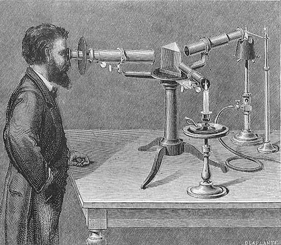 Kirchhoff works with his improved spectroscope