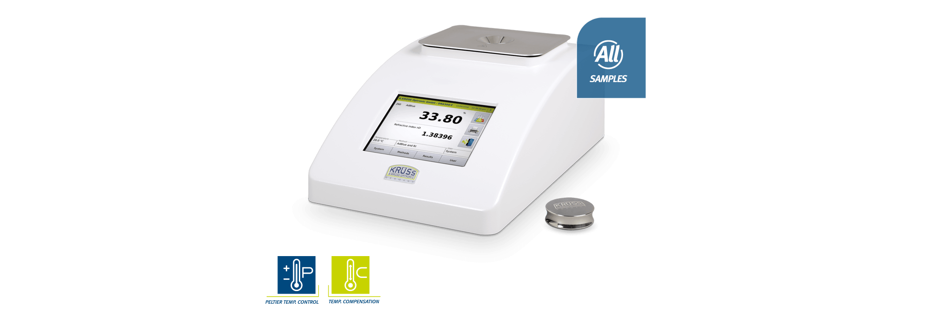 DR6000-T - Digital refractometers with peltier temperature