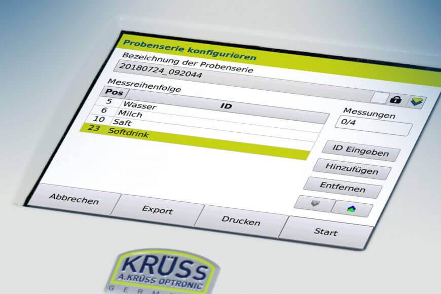 autosampler screen configure sample series