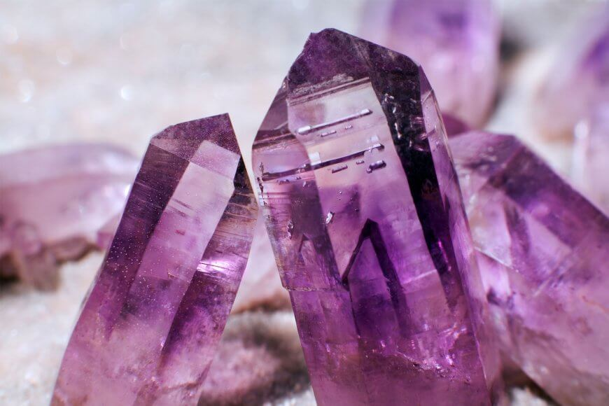 Microscopic magnification of an amethyst crystal