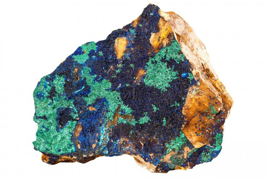 Microscopic magnification of azurite