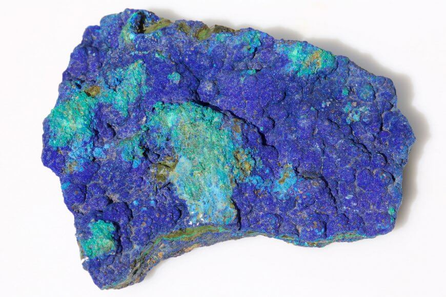 Microscopic magnification of azurite-malachite