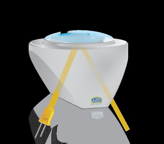 Wasserprobe auf einem Saphirprisma des Digitalrefraktometers