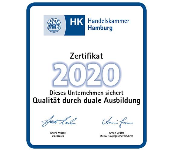 IHK Zertifikat duale Ausbildung 2020