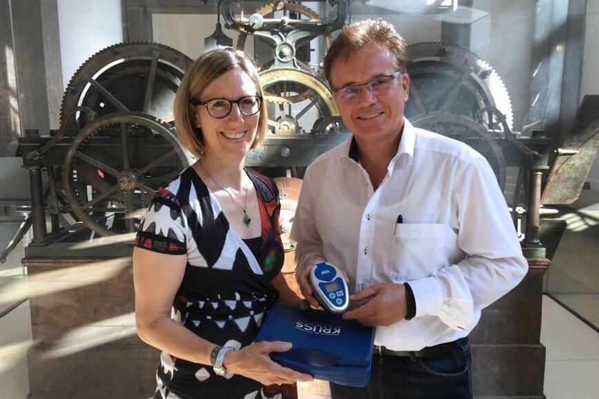 Donation of A.KRÜSS hand held refractometer