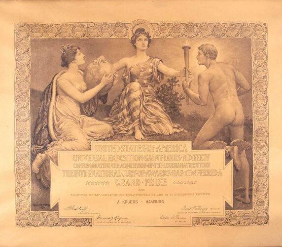 Krüss Auszeichnung St. Louis 1904