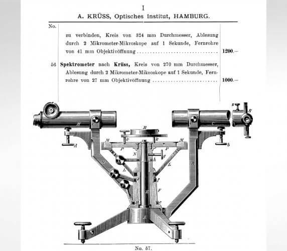 Spektrometer nach Krüss aus dem A.Krüss Gesamtkatalog