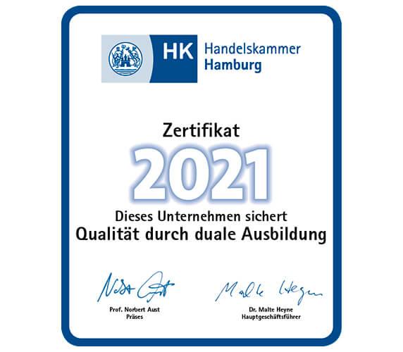 IHK Zertifikat duale Ausbildung 2021