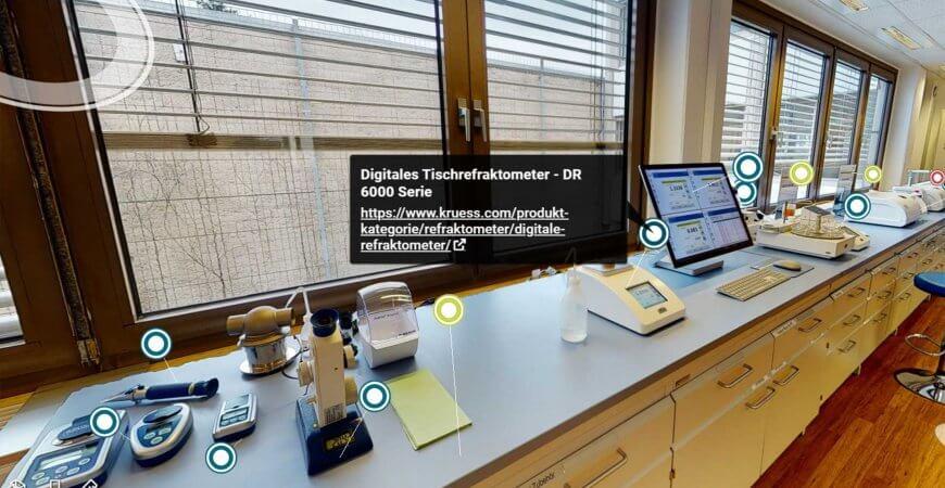 Virtuelles Labor Refraktometer